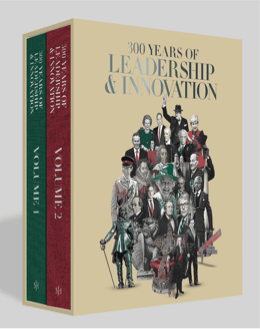 Cover of the book '300 Years of Leadership and Innovation'